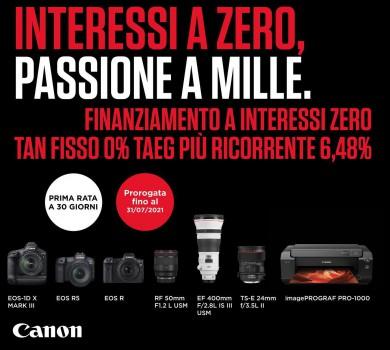 Finanziamento Canon Tasso Zero